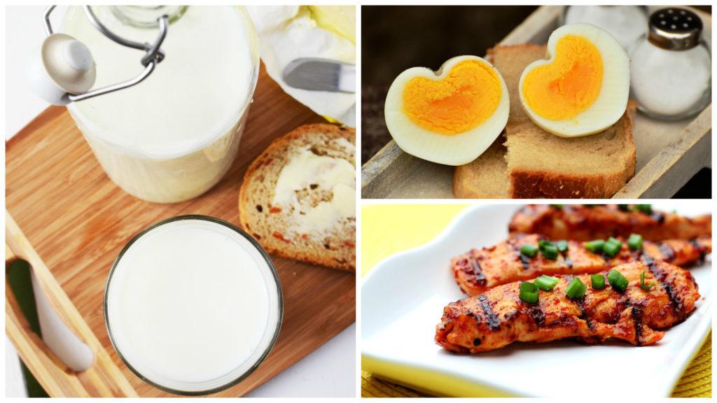 BCAA的攝取: 牛奶、蛋、雞肉是攝取蛋白質以及BCAA的好食材